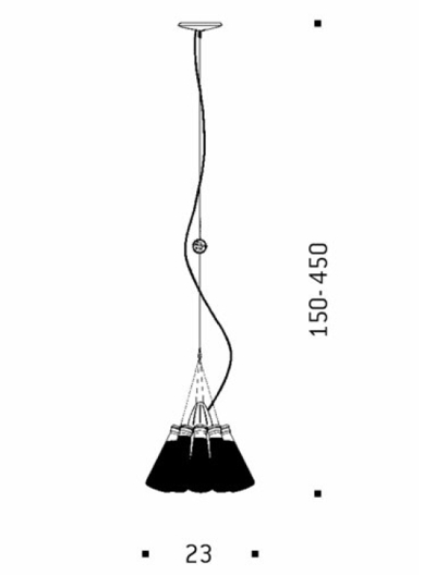 Bemassung - Campari Light - Pendelleuchte - Ingo Maurer