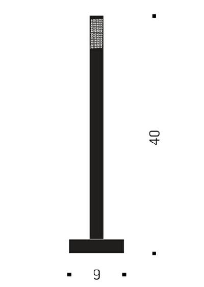 Bemassung - My New Flame - Tischleuchte