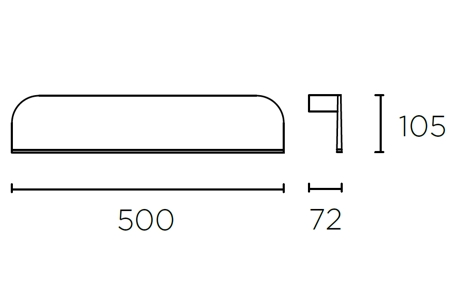 Bemassung Sek Wandleuchte LEDS-C4