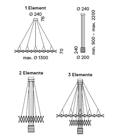 Zoom - Pendelleuchte - Masse