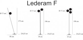 Catellani & Smith - Lederam F - LED Stehlampe